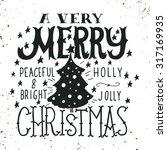 a very merry christmas.... | Shutterstock .eps vector #317169935