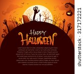 halloween poster | Shutterstock .eps vector #317172221