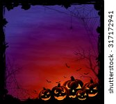 halloween background with... | Shutterstock . vector #317172941
