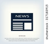 flat icon of news | Shutterstock .eps vector #317183915