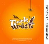 vector happy halloween poster... | Shutterstock .eps vector #317192351