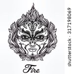 beautiful romantic fire spirit... | Shutterstock .eps vector #317198069