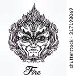 beautiful romantic fire spirit... | Shutterstock .eps vector #317198069