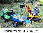 two years old baby boy playing... | Shutterstock . vector #317202671