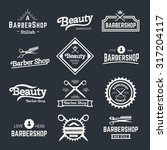vector set of retro barber... | Shutterstock .eps vector #317204117