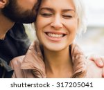 lovely happy couple.romantic... | Shutterstock . vector #317205041