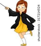 Illustration Of A Little Girl...