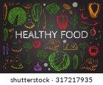 set vegetables and herbs.... | Shutterstock . vector #317217935