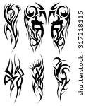 set of tribal tattoos. raster... | Shutterstock . vector #317218115