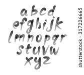 alphabet. hand drawn letters.... | Shutterstock . vector #317226665