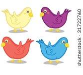 illustration of birds on white | Shutterstock .eps vector #31722760