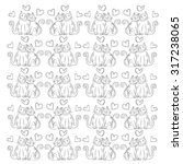 seamless pattern with two cats... | Shutterstock .eps vector #317238065