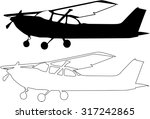 Vector Small Airplane...