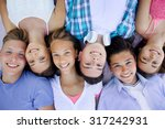 group of teenagers spending... | Shutterstock . vector #317242931