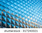 reflective building with... | Shutterstock . vector #317243321