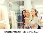 sale  consumerism and people... | Shutterstock . vector #317243567