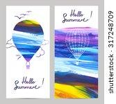 air travel vertical banners set ... | Shutterstock .eps vector #317248709