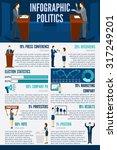 politics infographics set with... | Shutterstock .eps vector #317249201