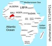 map of africa  burkiana faso | Shutterstock .eps vector #317249921
