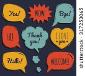 vector set of speech bubbles in ... | Shutterstock .eps vector #317253065