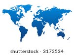 world map | Shutterstock .eps vector #3172534
