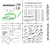 big set of hand drawn selection ... | Shutterstock .eps vector #317258789