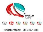 set of abstract speech bubble... | Shutterstock . vector #317264681