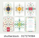 set of geometric abstract... | Shutterstock .eps vector #317274584