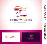 Постер, плакат: Hair Salon Logo Beauty
