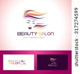 hair salon logo. beauty female... | Shutterstock .eps vector #317274599