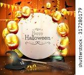 halloween background with... | Shutterstock .eps vector #317280179