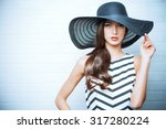 portrait of a beautiful... | Shutterstock . vector #317280224