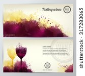 card  leaflet or banner... | Shutterstock .eps vector #317283065