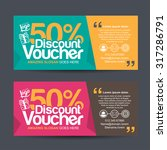discount voucher template with... | Shutterstock .eps vector #317286791