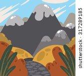 nature landscape autumn... | Shutterstock .eps vector #317289185