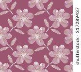 polygonal flowers seamless...   Shutterstock .eps vector #317289437