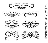 set of elegant flourishes for... | Shutterstock .eps vector #317294171