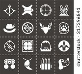vector hunting icon set on... | Shutterstock .eps vector #317296841