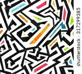 graffiti seamless pattern | Shutterstock .eps vector #317299385