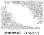 hand drawn chrysanthemum flower ... | Shutterstock .eps vector #317303771