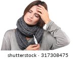 ill woman taking her... | Shutterstock . vector #317308475