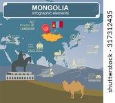 mongolia  infographics ... | Shutterstock .eps vector #317312435