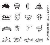 australia icons | Shutterstock .eps vector #317312444