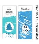 happy new year. postcard ... | Shutterstock .eps vector #317312951