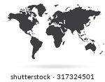 world map gray | Shutterstock .eps vector #317324501