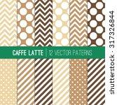 Caffe Latte Polka Dots  Chevron ...