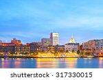 savannah georgia usa  skyline...   Shutterstock . vector #317330015