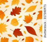 Autumn Seamless Patterns. Fall...