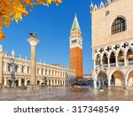 piazza san marko in venice ... | Shutterstock . vector #317348549