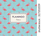 Lovely Pink Flamingo Vector...